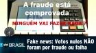 É fake! Votos nulos no 1º turno não eram fraude nem falha nas urnas - Jornalismo SBT Brasil