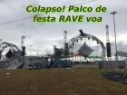 Atmosphere: Palco desaba em FESTA RAVE em Esteio, Brasil (Parque de Exposições Assis)