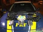 Bandidos escondem debaixo de FEIJÃO 4,3 toneladas de maconha, 23 pistolas e 500 munições