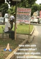 Em atitude humilde e nobre, avô pede emprego em avenida da Grande BH